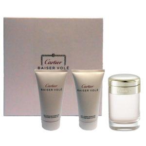 Cofanetto donna CARTIER BAISER VOLE' edp 50ml + shower gel 50ml + body lotion 50ml