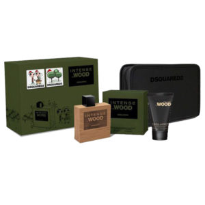 Cofanetto uomo DSQUARED HE WOOD INTENSE edt 50ml + hair and body wash 100ml + beauty