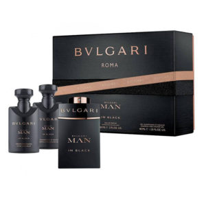 Cofanetto uomo BULGARI MAN IN BLACK edp 60ml + after shave balm 40ml + shampoo and shower gel 40ml