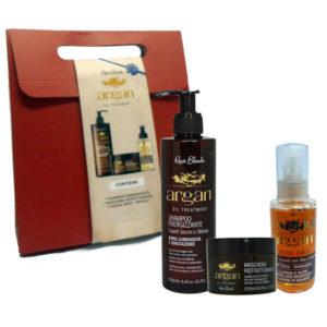 Cofanetto RENEE BLANCHE ARGAN shampoo 250ml + maschera 250ml + cristal drop 125ml