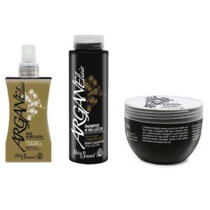 Kit HELEN SEWARD ARGANELISIR Olio 100ml + Shampoo 250ml + Maschera 250ml