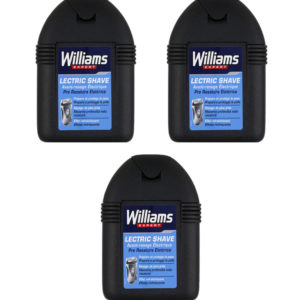 Stock 3pz WILLIAMS EXPERT LECTRIC SHAVE Pre Rasatura Elettrica 100ml