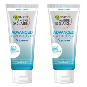 Stock 2pz GARNIER AMBRE SOLAIRE ADVANCED SENSITIVE Doposole 200ml