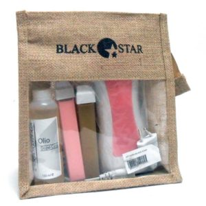 Kit Cera BLACK STAR olio dopo cera 150ml + 2 cartucce roll-on + scaldacartucce + 10 strisce