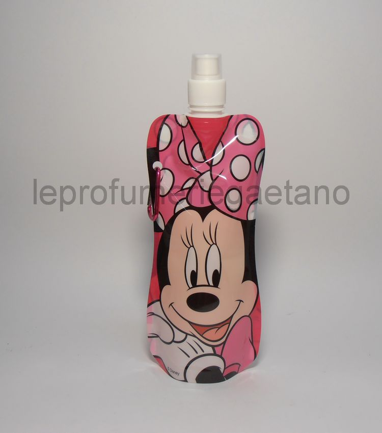 530c43d5f8 Borraccia Pieghevole 480ml Bimbi Disney ideale viaggio,sport Made in ...