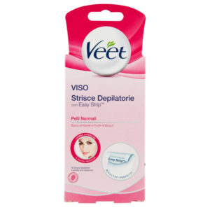 VEET VISO STRISCE DEPILATORIE Easy Strip pelli normali