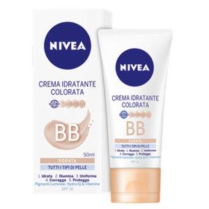 NIVEA BB Crema Idratante Colorata Dorata tutti i tipi di pelle 50ml
