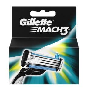 5 lame di ricambio GILLETTE MACH 3 ricariche rasoio