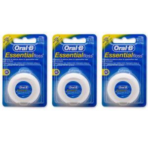3pz ORAL-B Essential floss filo interdentale non cerato 50m