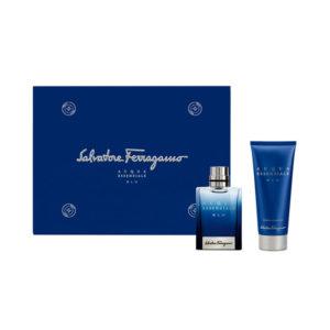 Set/confezione uomo SALVATORE FERRAGAMO ACQUA ESSENZIALE BLU edt 50ml + shampoo & shower gel 100ml