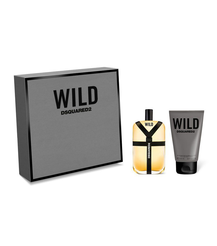 Cofanetto uomo WILD DSQUARED edt 100ml + hair and body wash 100ml