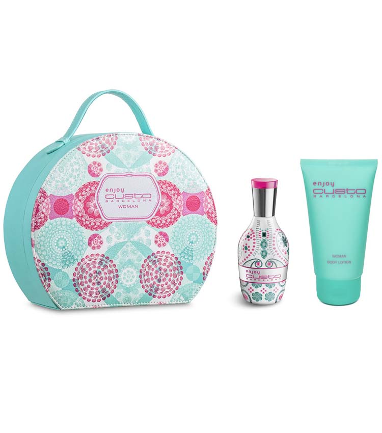 new styles ed045 6a15a Cofanetto donna CUSTO BARCELONA ENJOY WOMAN edt 100ml + body lotion 150ml