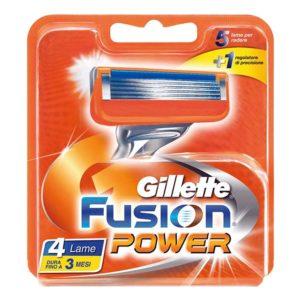 4 lame di ricambio GILLETTE FUSION POWER ricariche rasoio