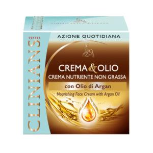 CLINIANS CREMA E OLIO crema viso nutriente non grassa con Olio di Argan 50ml