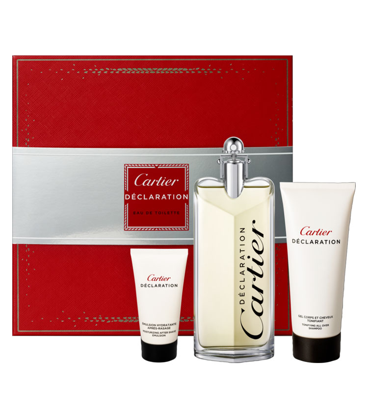 Cofanetto uomo CARTIER DECLARATION edt 100ml + emulsione dopobarba 50ml + shower gel 100ml