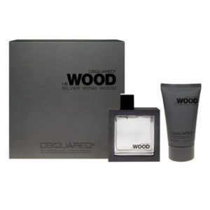 Cofanetto uomo DSQUARED HE WOOD SILVER WIND edt 50ml + hair and body wash 100ml