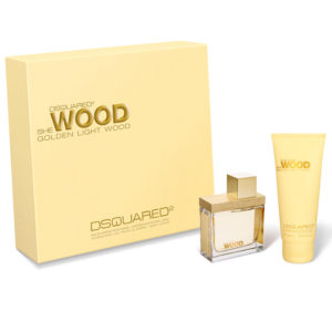 Cofanetto donna DSQUARED SHE WOOD GOLDEN LIGHT edp 50ml + body lotion 100ml