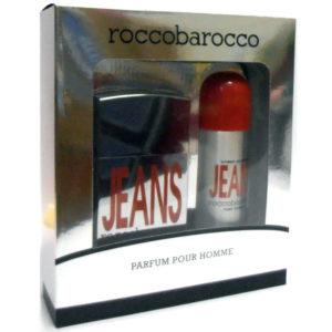 Cofanetto uomo ROCCOBAROCCO JEANS POUR HOMME edt 75ml + deodorante spray 150ml