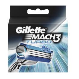 5 lame di ricambio GILLETTE MACH 3 TURBO ricariche rasoio