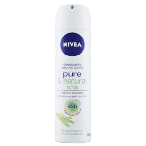 NIVEA PURE & NATURAL deodorante spray 150ml