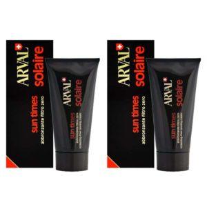 Stock 2pz ARVAL SOLAIRE SUN TIMES Crema Abbronzante filtro zero 150ml