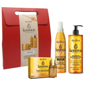 Cofanetto RENEE BLANCHE KERATINA shampoo 250ml + spray keratina 250ml + fiale