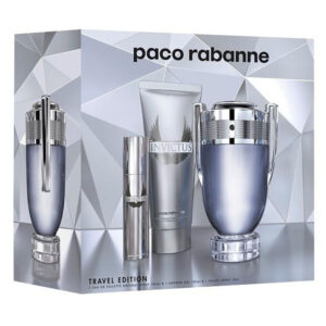 Cofanetto uomo INVICTUS PACO RABANNE edt 100ml + shower gel 100ml + travel spray 10ml