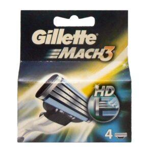4 lame di ricambio GILLETTE MACH 3 HD ricariche rasoio
