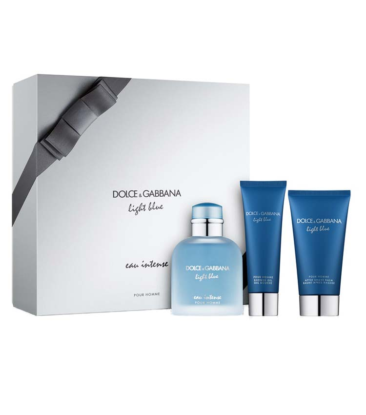 Cofanetto uomo DOLCE & GABBANA LIGHT BLUE EAU INTENSE edp 100ml + shower gel 50ml + after shave balm 75ml