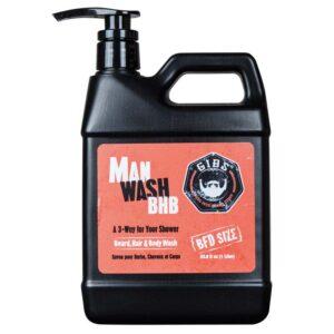 GIBS MAN WASH BHB Shampoo per Barba Capelli e Corpo 1lt