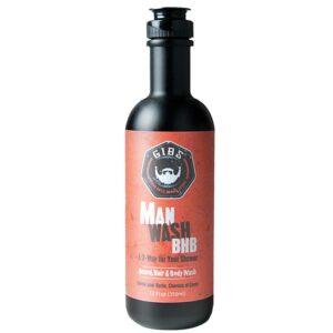 GIBS MAN WASH BHB Shampoo per Barba Capelli e Corpo 355ml