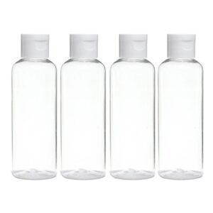 4PZ Contenitore Bottiglia Kit da viaggio 100ml Trasparente