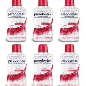 Stock 6pz PARODONTAX ORIGINAL Collutorio Quotidiano senza alcool 500ml