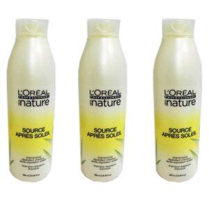 Stock 3pz L'OREAL PROFESSIONNEL SERIE NATURE shampoo riparatore doposole 250ml