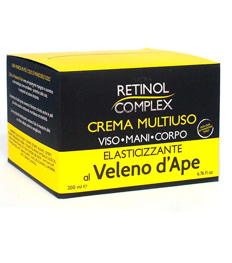 on feet at sale online shop best sellers ULTRA RETINOL COMPLEX Crema Multiuso elasticizzante al veleno d'ape 250ml