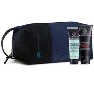 Cofanetto uomo COLLISTAR idratazione totale non stop 24h 75ml + doccia shampoo 3 in 1 100ml + beauty Piquadro
