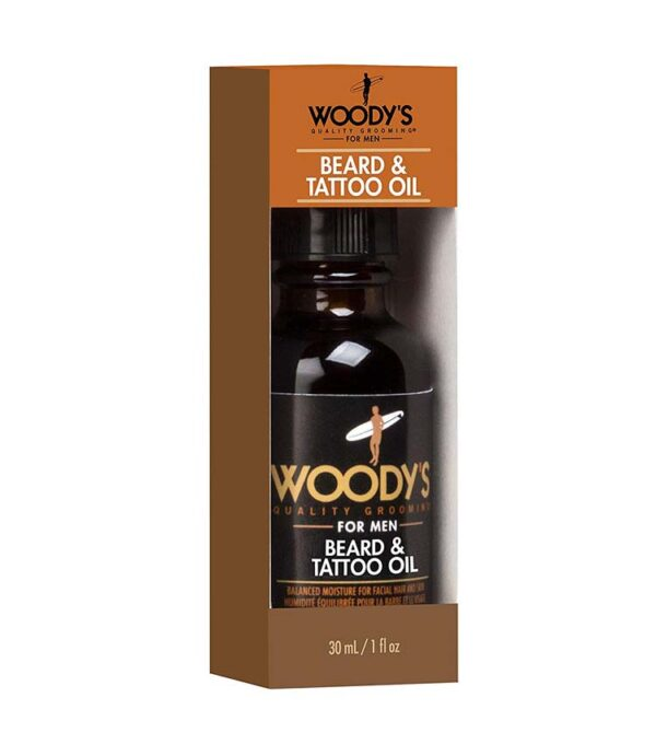 WOODY'S FOR MEN Beard & Tattoo Oil olio per barba e tatuaggi 30ml